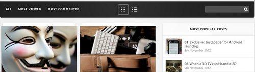 قالب وبلاگ و مجله اینترنتی Gadgetry برای وردپرس