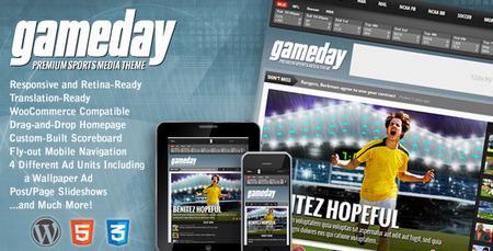 دانلود قالب خبری ورزشی GameDay برای وردپرس