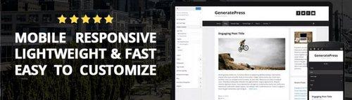 قالب چندمنظوره GeneratePress برای وردپرس