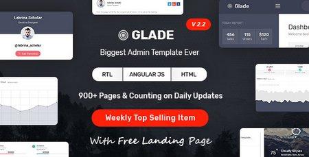 قالب مدیریت وب سایت Glade به صورت HTML