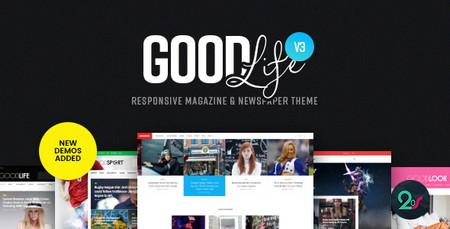 دانلود قالب مجله ای GoodLife برای وردپرس