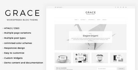 دانلود قالب وبلاگی Grace برای وردپرس