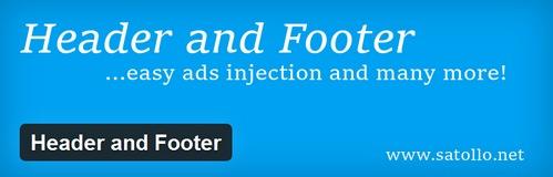 افزونه وردپرس مدیریت فایل های هدر و فوتر Header and Footer