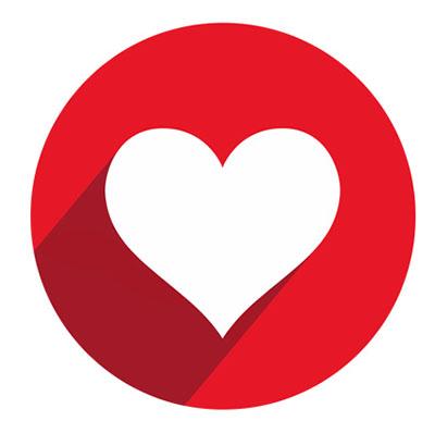 آیکون با طرح قلب به صورت فایل PSD