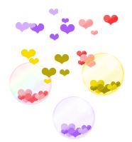ابزار زیبای حباب و قلب در رنگ های مختلف