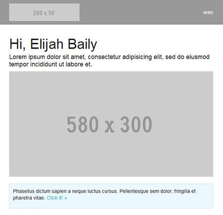 قالب رایگان برای ارسال ایمیل Hero به صورت HTML