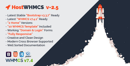 دانلود قالب هاستینگ و میزبانی وب HostWHMCS نسخه HTML و WHMCS