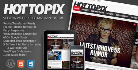 قالب وردپرس مجله خبری هات تاپیکس Hot Topix