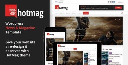 دانلود قالب مجله ای خبری HotMag نسخه 1.2 برای وردپرس