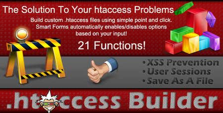 ساخت فایل های htaccess با اسکریپت htaccess Builder