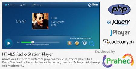 اسکریپت پخش کننده فایل های صوتی و ایستگاه رادیویی HTML5 Radio Station Player