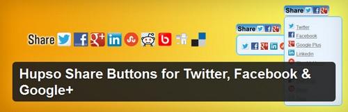 افزونه وردپرس دکمه های اشتراک گذاری مطالب Hupso Share Buttons