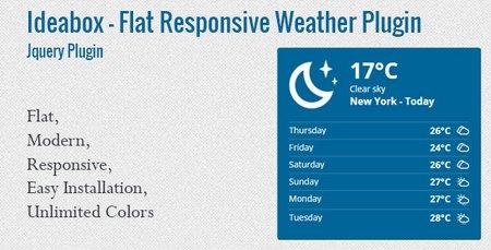اسکریپت jQuery نمایش وضعیت آب و هوا Ideabox