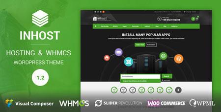 قالب میزبانی وب و هاستینگ inHost برای وردپرس و WHMCS