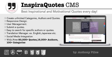 اسکریپت اشتراک گذاری نقل قول InspiraQuotes CMS