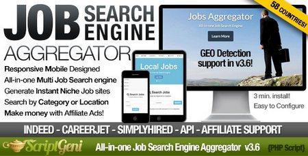 اسکریپت موتور جستجوی مشاغل Instant Job Search Engine Aggregator