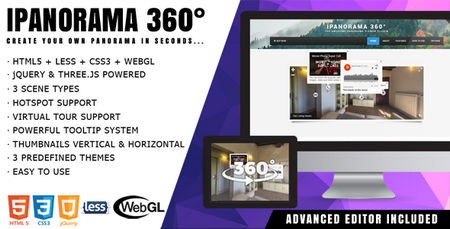 نمایش تصاویر پاناروما و ۳۶۰ درجه با اسکریپت iPanorama 360