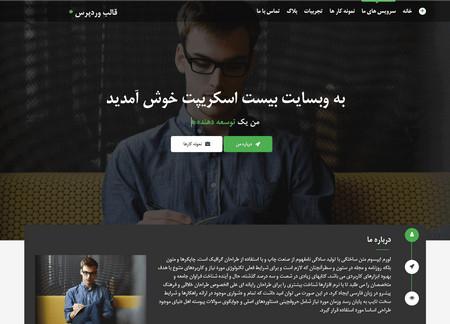 دانلود قالب تک صفحه ای Ithemer برای وردپرس