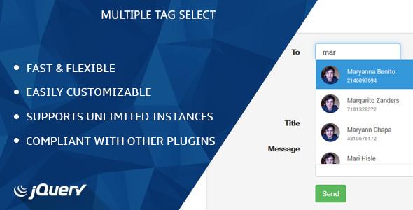 اسکریپت فرم جستجو jQuery Multiple Tag Select v1.2