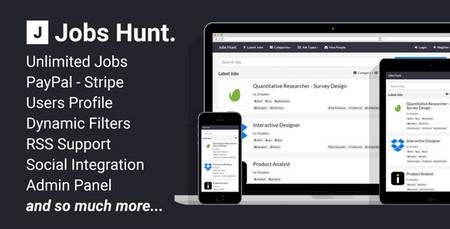 اسکریپت ایجاد پورتال کاریابی آنلاین Jobs Hunt