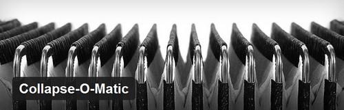 افزونه ایجاد پوشه های تودرتو در وردپرس Collapse O Matic