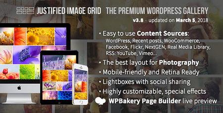 ایجاد گالری تصاویر پیشرفته در وردپرس با افزونه Justified Image Grid نسخه 3.8.1