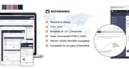 قالب مدیریت وب سایت Kathmandu به صورت HTML