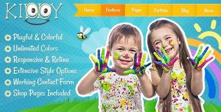 قالب HTML وب سایت کودکستان و مهد Kiddy