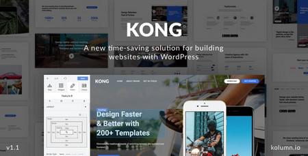 افزونه صفحه و قالب ساز وردپرس KONG Website Builder