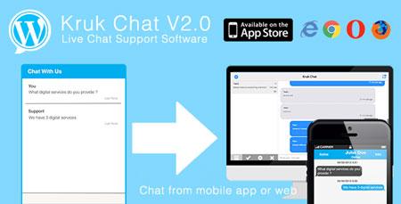 افزونه وردپرس چت و پشتیبانی آنلاین Kruk Chat