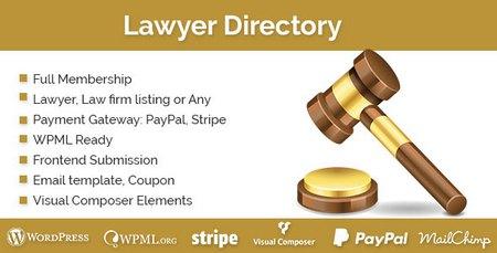افزونه وردپرس استخدام مشاور Lawyer Directory