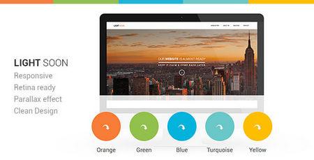 قالب HTML سایت در دست ساخت Light Soon