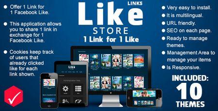 اسکریپت دانلود به ازای لایک فیسبوک Like Store Links نسخه 1.2.0