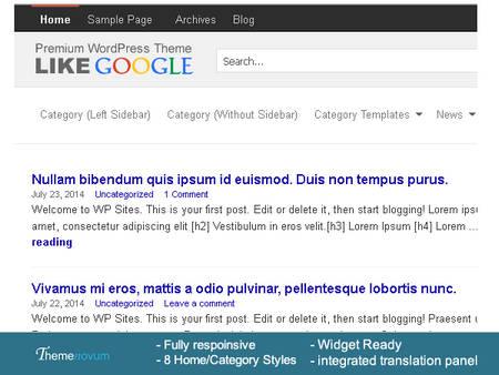 قالب وردپرس وبلاگی و شخصی LikeGoogle