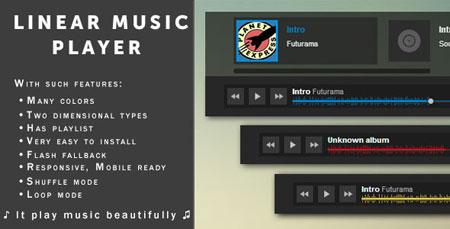linear music player اجرای موسیقی آنلاین در وب سایت با اسکریپت Linear Music Player