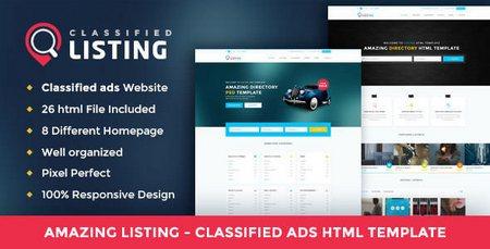 قالب HTML راه اندازی سایت نیازمندی Listing