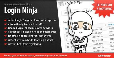 افزونه پیشرفته ورود و عضویت در وردپرس Login Ninja