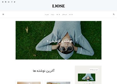 دانلود قالب وبلاگی وردپرس Loose فارسی
