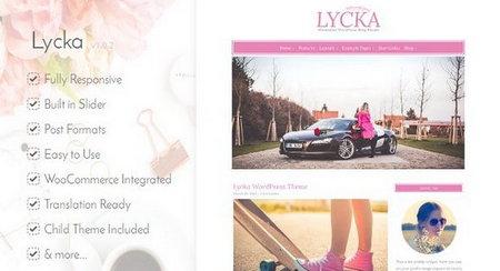 دانلود قالب شخصی و دخترونه Lycka برای وردپرس
