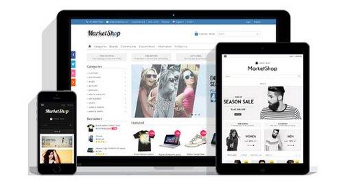 قالب HTML وبسایت فروشگاهی فارسی MarketShop