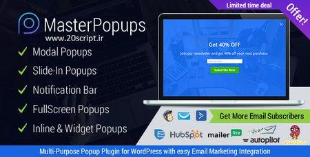 افزونه وردپرس ایجاد پنجره های پاپ آپ حرفه ای Master Popups نسخه 1.3.8