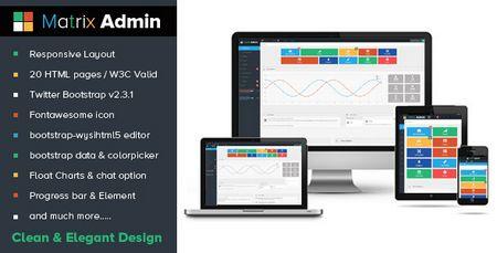 قالب HTML مدیریت وب سایت Matrix Admin
