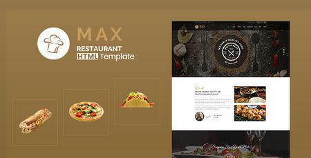 قالب HTML وب سایت رستوران Max Restaurant