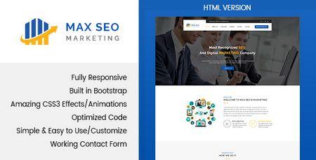 قالب HTML وب سایت خدمات سئو Max Seo