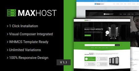 دانلود قالب میزبانی وب مکس هاست MaxHost نسخه وردپرس و WHMCS