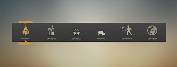 منوی بسیار زیبای ایکون دار به صورت CSS3