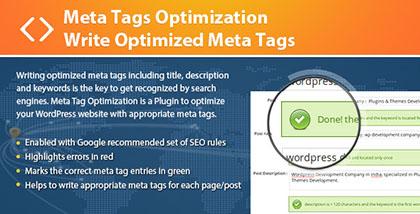 افزونه ارزیابی و بهینه سازی برچسب ها Meta Tags Optimization
