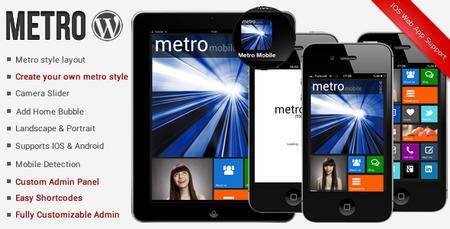 قالب وردپرس مخصوص موبایل Metro Mobile