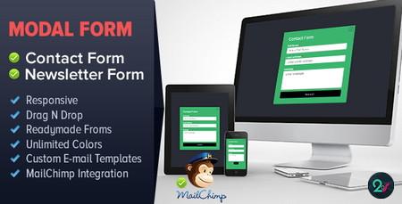 افزونه ایجاد فرم تماس و خبرنامه Modal Form برای وردپرس