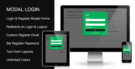 افزونه ایجاد فرم ورود و عضویت در وردپرس Modal Login نسخه 1.5.0